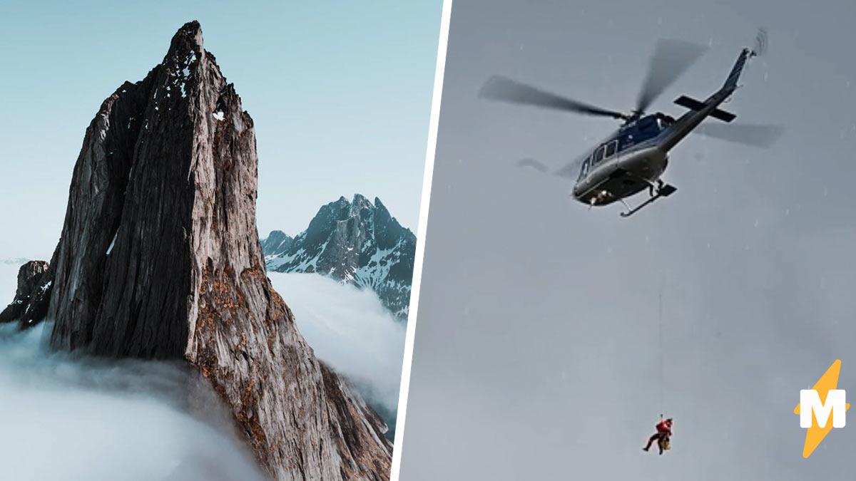 Спасатели летели в горы за туристом, а там  сюрприз. Находка была, но полиции пришлось её срочно прятать