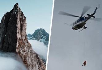 Спасатели летели в горы за туристом, но их ждал сюрприз. Находка была, и полиции пришлось её срочно прятать