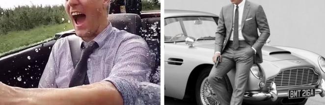 Блогер собрал машину Джеймса Бонда, повторив функции оригинала. Огнемёт под капотом – только начало