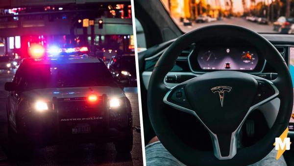 Полиция не могла найти преступника, но в игру вступили машины. Один клик Tesla, и мужчина уже за решёткой