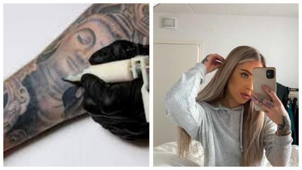 Парикмахер забила тело татуировками, но не ради красоты. Под ними то, из-за чего в школе её называли заразной