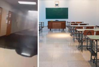 Ученики пришли в школу, а там — Веном. Но от чёрной жидкости из коридора спас бы не Человек-паук, а Мойдодыр