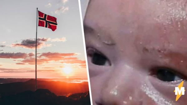 """""""Господи, пожалуйста, Норвегия"""", - молит младенец, но увы. Мем разбивает в щепки его мечты о светлом будущем"""