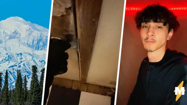 Блогер открыл входную дверь, и клаустрофобам стало больно. Это не кадры из хоррора, а хорошая погода на Аляске