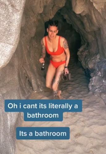 Туристка вошла в пещеру и забыла как дышать. Не от красоты - увидев, как её используют другие, пришлось бежать