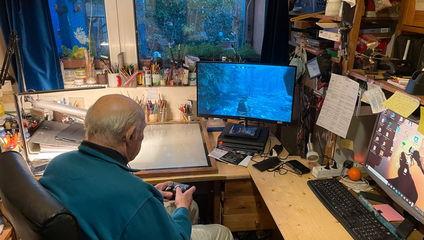 Дедушка хотел поиграть в Skyrim, но управление не поддавалось. Пришлось решать проблему в духе старой школы