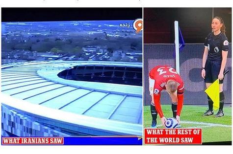 Иранские фанаты смотрели футбол, но местное ТВ было против. Узнать итог матча ценителям помешала одежда судьи