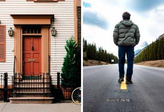 Муж наступил на ступеньку тротуара у дома, и та рухнула. Увидев, что под ней, он умолял жену вернуться домой