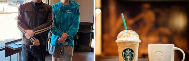 Бариста встретился с мальчиком, который родился в его Starbucks. Выражение лица ребёнка доказало, что не зря