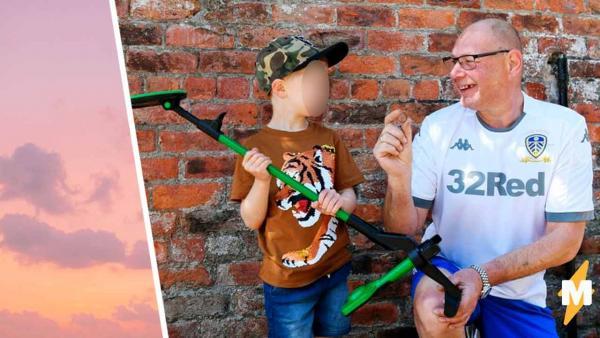 Папа отпустил сына погулять с металлодетектором и может гордиться им. Парой
