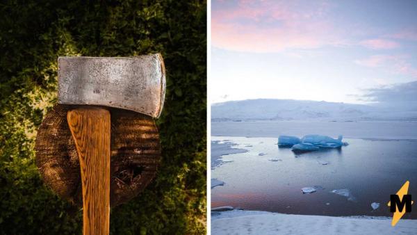 Прохожие не понимали, зачем трое ребят рубят лёд на реке топорами. Пока не увидели, что они оттуда вытащили