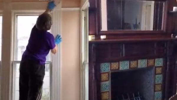 Реставраторы нашли оригинальные обои в доме XIX века. Они впечатляют, но в цвете бумаги люди видят опасность
