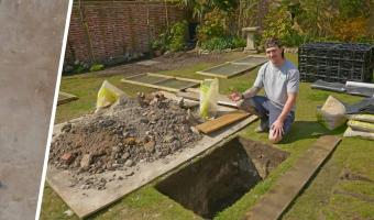 Строители копали двор для патио и отбросили лопаты. Заказчики предупреждали, что в доме живёт семья, но не две