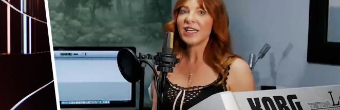 Артистку попросили спеть, а она выдала помехи. Звучать на видео как старый радиоприёмник — фишка рекордсменки
