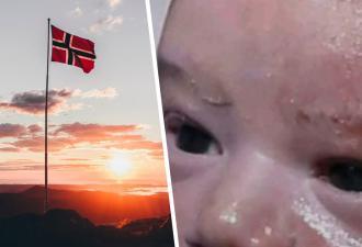 «Господи, пожалуйста, Норвегия», — молит младенец, но увы. Мем разбивает в щепки его мечты о светлом будущем