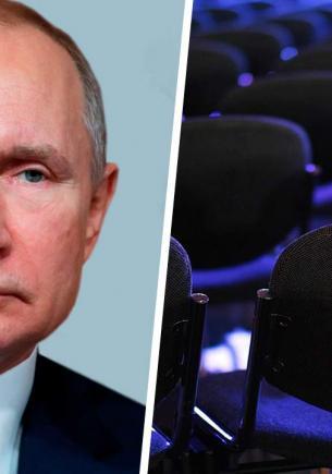 Владимир Путин обратился к Федеральному собранию, а люди шутят. Зрители в зале — готовый мем «наелся и спит»