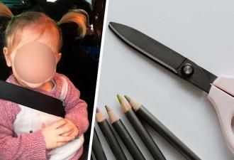 Дочке хватило минуты с ножницами, чтобы показать — она панк. В детсад с новой стрижкой мама её не пустит