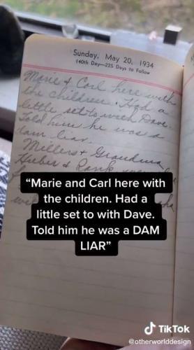 Блогер показал дневник домохозяйка из 1934 года