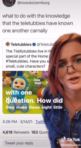 Блогерша поняла, как произошли дети телепузиков. Теперь люди знают, что персонажи умеют в полиаморию