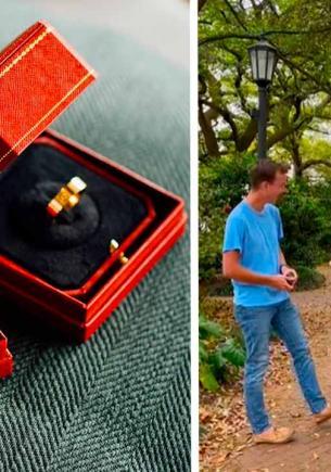 Пара сняла на видео предложение руки и сердца, а вышел подарок для копов. Зря прохожий выболтал им свою тайну