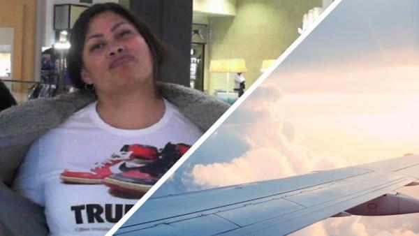 Пассажирка села в самолёт, а дальше - сцена из фильма. Ведь с лайнера она сходила уже с новым членом семьи