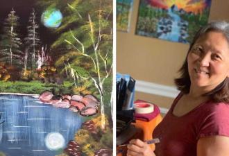 Женщина перенесла инсульт в 60 лет, но жизнь на этом только началась. Ведь недуг открыл в ней талант художника