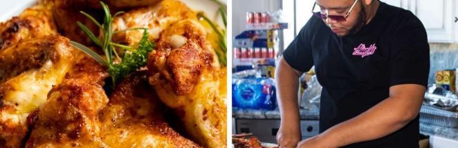 Повар заказал куриные крылышки, но боится их есть. Ведь размер блюда так и намекает — на кухню залетала синица
