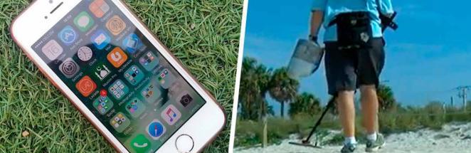 Старик искал мусор на пляже, а нашёл iPhone 12. Удивительнее состояния находки была только история её потери