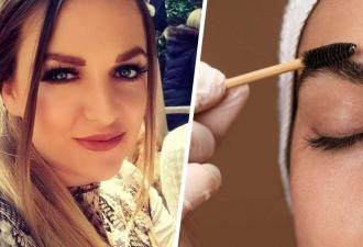 Косметолог сделала себе окрашивание, и это отвал бровей. Теперь на её лице коллеги видят коллаб гусениц и KFC