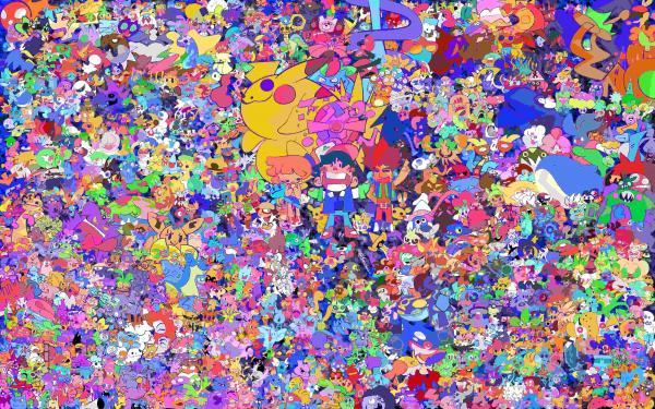 Художник вместил всех покемонов в одну пикчу. Для всех, кто нашёл кого-то, кроме пикачу, есть хорошие новости