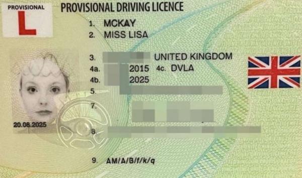 Водительница сделала фото на права и забыла путь в паб. Там не верят, что документ её, а не Гомера Симпсона