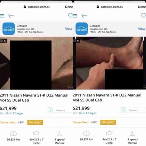 Австралийский парень запостил фото своей машины в интернете и случайно засветил дикпики