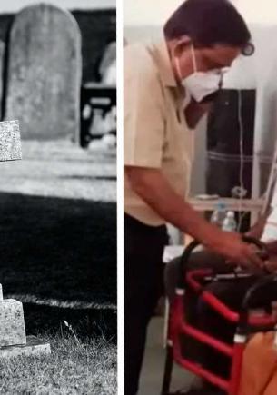 Родственники хотели кремировать умершую бабулю, но в последний момент посмотрели на неё. А она — на них (упс)