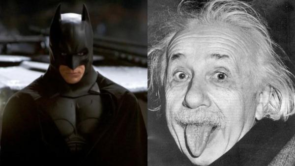 Художница омолодила Альбера Эйнштейна, и девушки потеряли сон. Они поняли, что видели учёного в «Бэтмене»