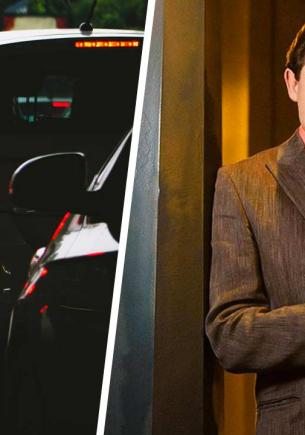 Водитель в авто выглянул в окно, а там матрица шалит. Ещё бы, ведь мем с Евгением Понасенковым перешёл в жизнь