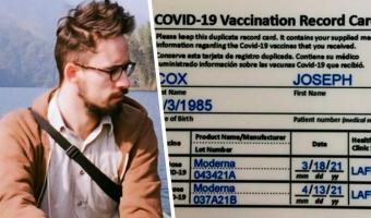 Журналист купил фейковый сертификат о вакцинации для статьи и забыл про сон. Стоило только проверить почту