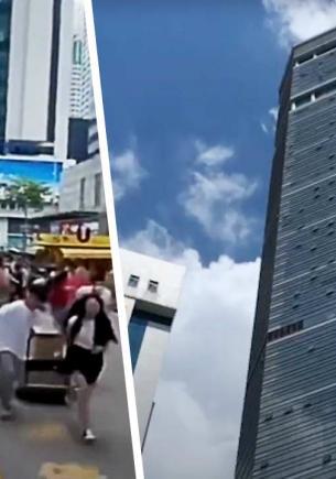 Небоскрёб в Китае закосплеил «Ходячий замок» и ожил. Хаула на видео, увы, нет, а криповое явление — да