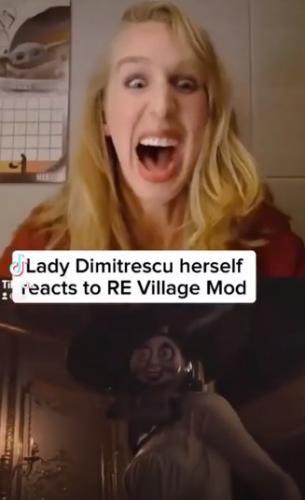 Актриса Леди Димитреску оценила мод с паровозиком Томасом. И геймеры добавляют достижение «напугать вампиршу»