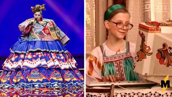 Участники «Евровидения» вошли в шутки. Кто знал, что платье Манижи – мем с Галиной из «Папиных дочек»