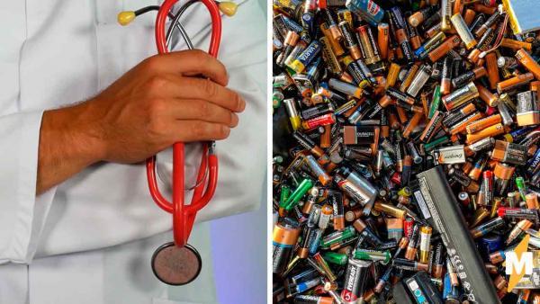 Врач показал, что будет, если проглотить батарейку. И это зомби-апокалипсис, от которого стоит убрать детей