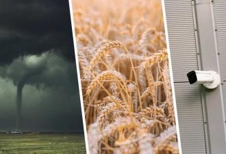 В Польше торнадо ограбил овощной склад. Если бы не видео с камер наблюдения, сторожу никто бы не поверил