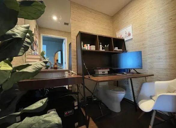 Мама на удалёнке оборудовала свой кабинет так, чтобы ей никто не мешал. Под её столом унитаз, и это работает