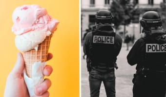 Полиция на саммите G7 — ваш новый мем о любви. Когда хотели почиллить с мороженым, а вышел кадр из ромкома