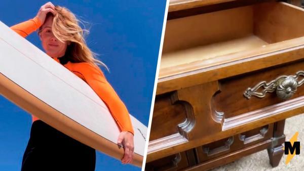 Реставратор купила стол на блошином рынке и зря проверила выдвижной ящик. Там