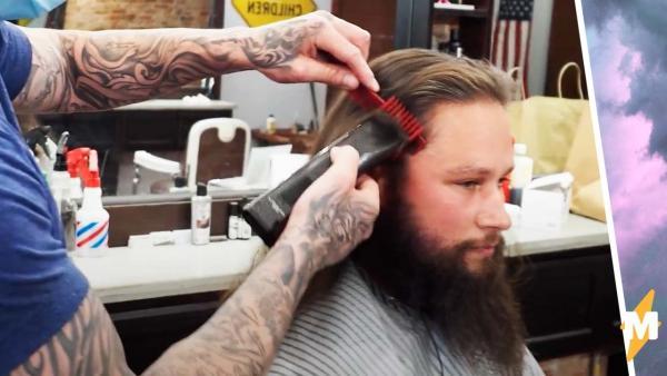 Мужчина постригся впервые за 5 лет и не узнал себя в зеркале. Из бродяги в похитителя сердец - да легко