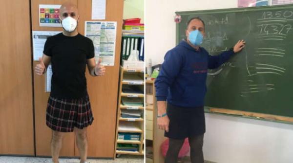 Учителя-мужчины сменили брюки на мини-юбки и сломали родительский чат. В таком виде физрука они ещё не видели