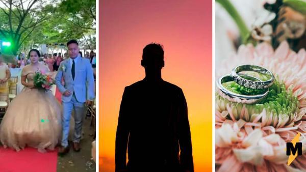 Из-под платья невесты выбежал парень, но свадьбу жених не отменил. Она состоялась благодаря третьему под юбкой