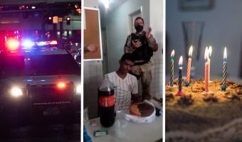 Самый грустный день рождения выглядит так. Полицейские поздравили парня с совершеннолетием и сразу арестовали