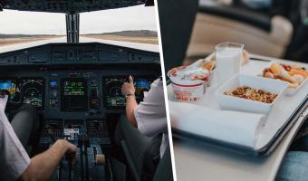 Стюардесса раскрыла, почему двум пилотам запрещено есть одинаковое блюдо на смене. Одного из них людям жаль