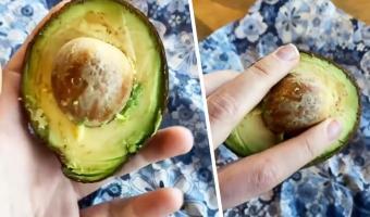 Можно ли достать косточку из авокадо одной рукой за минуту? Кулинарка на видео доказала — проще простого